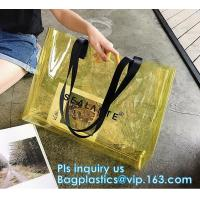 Buy cheap Promotional PVC Clear Beach Towel Bags, PVC reusable beach bag, Sand Bags Cosmetic Bag Handbag, Handle bag/pvc handle ba from wholesalers