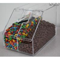 Buy cheap Slant Front Divided Clear Acrylic Candy Display Cases Bin Box product