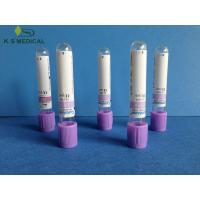 Buy cheap Disposable Whole Blood Collection Tubes Purple , K2 EDTA from wholesalers