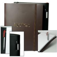 Buy cheap A5 or A4 Blue Leather Cover embossed Custom Printed Notebook for Business Agenda  from wholesalers