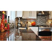 Buy cheap Coffee Brown Granite Kitchen Stone Slab Countertop Table Top Polished  Brushed from wholesalers