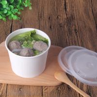 Buy cheap Hot soup paper bowls supplier,Hot soup restaurant paper cup container without logo printing from wholesalers
