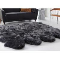 Living Room Decorative Australian Sheepskin Rug Comfortable Thick Soft For Baby
