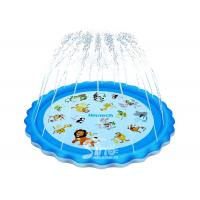 Buy cheap 68'' Backyard Splash Pad Educational Inflatable Kiddie Pool With Sprinkler For Babies And Toddlers from wholesalers
