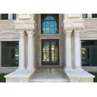 Buy cheap Round Shape Natural Building Stone Pillar White Marble Roman Columns 2800 Kg/M3 from wholesalers