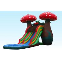 Buy cheap Amazing Special 23Ft Mushroom Inflatable Water Slides With Small Pool For Party from wholesalers