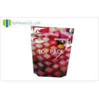 Buy cheap Colorful Desgin Stand Up Pouch Packaging Ziplock Front Printed Back Clear Lipstick from wholesalers