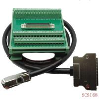 Buy cheap SCSI 68 Pin Connector DIN Rail Mounting Terminal Blocks Adapter with 1 meter Cable from wholesalers