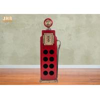 Buy cheap Antique Wood Wine Rack Decorative Storage Cabinets MDF Floor Wine Rack 8 Bottle Red Color from wholesalers