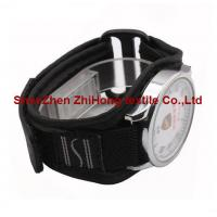 Buy cheap hook and loop Nylon webbing/mesh fabric sewn watch wrist band with magic tape product