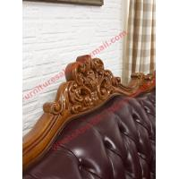 Buy cheap European Classic Solid Wooden Carving Frame with Italy Leather Upholstery Sofa from wholesalers