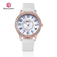 Buy cheap 30mm Dial 3 Bar Water Resistant Wrist Watch Quartz Movement With Leather Strap from wholesalers