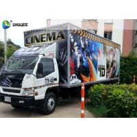 Buy cheap Columbia Professional Mobile 5D Cinema Experience , Exiciting Car Cinema With Special Effects from wholesalers
