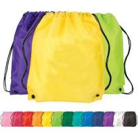 Buy cheap Pure Color Non Woven Bag Large Sports Nylon Cloth Drawstring Bag  from wholesalers