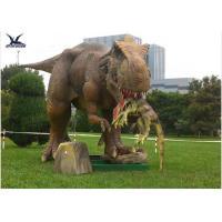 Buy cheap Handmade Dinosaur Lawn Statue Length 3.5M-4M For Dinosaur Theme Park / Zoo product
