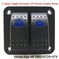 Buy cheap 2 Gang Toggle Enclosed 12V Rocker Switch Panel For Car Boat RV Yacht Truck from wholesalers