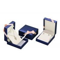Buy cheap Mens PU Leather Cardboard Jewelry Boxes Bulk Ring Gift Box With Removable Drawer from wholesalers