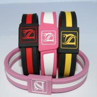 Buy cheap Yellow Energy Sports Silicone Bracelets , Eco-Friendly Mans Bangles / Wristband from wholesalers