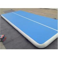 Buy cheap Blue Inflatable Air Track Gymnastics , Double Wall Fabric Air Trak Mat from wholesalers