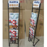 Buy cheap Blasting Newspaper Metal Magazine Rack / Shelf Book Display Stand DX-K131 from wholesalers
