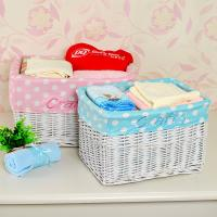 Buy cheap Home storage durable white wicker laundry basket for dirty clothes from manufacturer from wholesalers