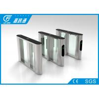 Buy cheap DC24V Glass Door Waist Height Turnstile , Comercial Electronic Turnstile Gates from wholesalers