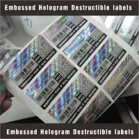 Buy cheap Tamper Evident Destructible Vinyl Laser Labels High Security With Custom Pattern from wholesalers