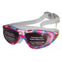 Buy cheap Blue Rose White Prescription Swimming Glasses Safety Goggles Wide Angle from wholesalers