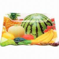 Buy cheap Fruit Tray with Colorful Photo Insert, Available in Various Sizes and Colors, Made of Acrylic from wholesalers