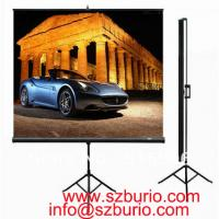 Buy cheap Prime Quality 72 16:9 Tripod Portable Projection Screen HD Floor stand Bracket Projector Screen Matt White Factory Supp from wholesalers