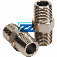 Buy cheap High Precision 3 / 4  Sch 80 NPT Hex Nipple , A182 F316 Male Threaded Nipple from wholesalers