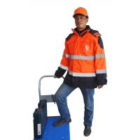 Buy cheap 5 In 1 Industrial Work Jackets / 300D Polyester Waterproof Hi Vis Work Jackets  from wholesalers