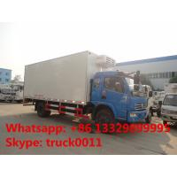 Buy cheap dongfeng DFAC fish vegetable food meat hook refrigerator truck, dongfeng 120hp seafood transported cold room truck from wholesalers