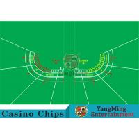 Buy cheap Polyester Fabric Casino Table Layout Can Be Folded Convenient To Carry from wholesalers