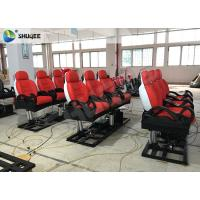 Buy cheap Red Luxury 3DOF 5 D Movie Theater With Left Right Front Back Movement For Amusement product