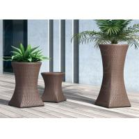 Buy cheap Rattan Flower Pots Patio Decoration Wicker Planter Trapezoid Size Optional from wholesalers