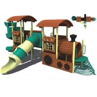 Buy cheap backyard plastic childrens outdoor play equipment with school from wholesalers