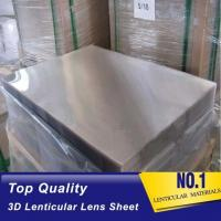Buy cheap OK3D 20LPI Lenticular PS sheet standard size 1.2*2.4m 3mm thickness for 3d flip effect lenticular printing from wholesalers