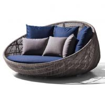 Buy cheap New Design PE Rattan Outdoor wicker Furniture Patio Garden Furniture Sofa Bed from wholesalers