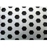 Buy cheap Hot Rolled Hexagonal Perforated Metal Aesthetically Appealing For Machine Guards from wholesalers