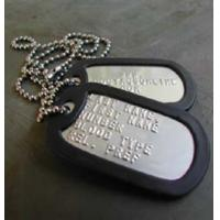 Buy cheap Military Brass Dog Tag for People from wholesalers