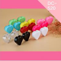 Buy cheap US FDA approval 5g cute lovely newest elegant light weight colorful PP plastic hard contact lens case from wholesalers