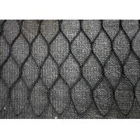 Buy cheap Black Oxide Hand Woven Wire Rope Mesh , Stainless Steel Diamond Wire Mesh Fencing from wholesalers