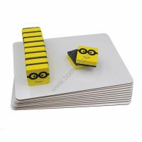 Buy cheap 3mm personalized pack lapboard plain whiteboard set with eraser for Aamzon selling from wholesalers