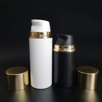 Buy cheap 50ml 100ml 150ml Plastic PP Airless Pump Bottles With Over Cap from wholesalers