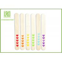 Buy cheap Red Heart Pattern Natural Wood Sticks Colored OEM / ODM Available from wholesalers
