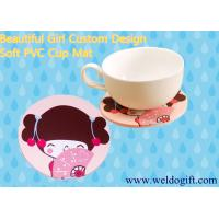 Buy cheap Beautiful Girl Soft PVC Cup Mat from wholesalers