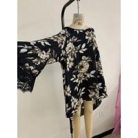 Buy cheap Black Womens Chiffon Shirt Fabric Type 100% Polyester Material from wholesalers