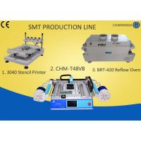 Buy cheap 3040 Stencil Printer + Chmt48vb Table Top Pick And Place + T961 Reflow Oven , Smt Line from wholesalers