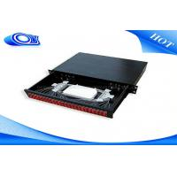 Buy cheap Light Weight Fiber Distribution Panel , 48 Port Fiber Patch Panel Rack Mount For ODF Tray from wholesalers
